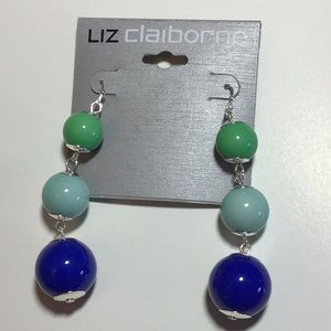 Liz Claiborne Earrings in green & blue